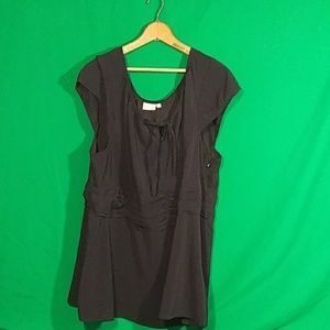 Eshakti 4x/28W black short sleeve blouse